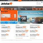 Jetstar Getaway Sale - from $35 One Way Domestic (Feb - Mar, May - Jun Travel)