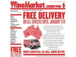 Free Delivery on All Orders Until Jan 5th @ Wine Market