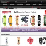 50% off Skateboards/Longboards at SkateboardExpress.com.au
