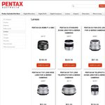 CR Kennedy : PENTAX lenses : 16-45mm F4 $224.10, 17-70mm F4 $439.20, DA*16-50mm F2.8 SDM $871.20