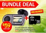 HD Car Crash Camera with 16 & 32GB MicroSDcards - %50 off to $59 and $69 (with Free Shipping)