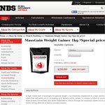 1kg Flavoured MassGain Weight for $10 (Save 50%) (Plus $12 Flat-Rate Postage)