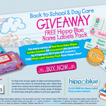 FREE Designer School Name Labels (RRP $29.50) with Purchase of Red Nose Baby Wipes