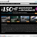 $150 OFF Return Flights to Queenstown or Christchurch @ Air New Zealand