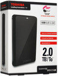 David Jones Toshiba 2TB USB 3.0 Canvios Basic Portable Hard Drive $129 Delivered (Free Shipping)