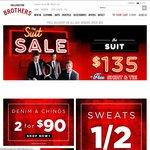 Hallensteins Men's Suits $135 (+Shirt +Tie) + Free Shipping + Further 25% off (Code = $101.25)