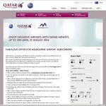 Qatar Airways Discount Code for Economy and Business Class (Melbourne Only)