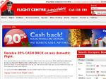 EXPRED - Flight Centre - 20% Cashback ($200 Max) on All DOMESTIC Flight Bookings with PayPal