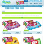 Spend $70+ & Receive a Free Box of Disinfecting Wipes & Free Shipping (Value $26.97) @ Aussie Wipes