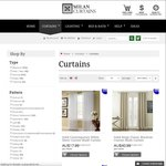 10% off All Curtains from Milan Decor. FS