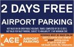 (Tullamarine Airport VIC) Purchase 3 Days Parking & Get 2 Days Free @ ACE Parking via ShopADocket