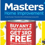 All Paint, All Brands, All Sizes (Buy 2 and Get 1 Free) @ Masters