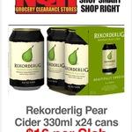 Rekorderlig 24x 330ml Premium Pear Cider $16 @ NQR (VIC)