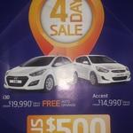 $500 Free Accessories across The Hyundai Range - 4 Days - 22-25 June