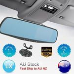LCD Mirror Monitor + Reversing Camera + Dash Cam - $61.88 Shipped @ Felongtek eBay