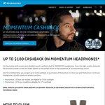 Cashback on Sennheiser Momentum Headphones $75 (On ear) $100 (Over ear)