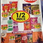 Peter's Drumsticks $3.99, Allens Jelly/Mint Bags $1.49, Doritos/Smiths Chips $1.64, Listerine $3.99 1/2 Price or more off @ IGA
