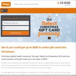 $300 / $150 (Family etc / Single) Gift Cards for Purchasing Health Insurance through iSelect