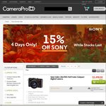 15% off in-Stock Sony Items at CameraPro - 4 Days Only
