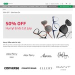 50% off When Buying a Single Pair of Glasses @ Specsavers