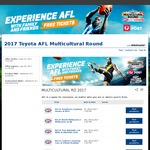 2 Free GA Tickets - 2017 Toyota AFL Multicultural Round 28th - 30th July - Various Matches & Locations
