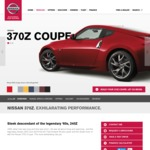 Nissan 370Z Manual Coupe $49,990, Auto $52,490 +ORC