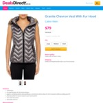Calvin Klein Vest with Hood $79 (RRP $199. 95), Zip Puffer $49 (RRP $149.95), Sunglasses $65 (RRP $247) + Delivery @Dealsdirect