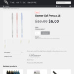 Osmer Gel Pens x 18 (Black, Blue & Red, or Mixed) - $6.00 + Free Delivery - The Office Shoppe