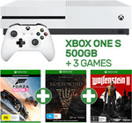 Xbox One S 500GB Console + 3 Games $329 (Forza Horizon 3, ESO: Morrowind & Wolfenstein II) and 3 other deals @ EB Games