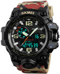 SKMEI 1155 50M Waterproof Men Sport Watch Camouflage Compass LED Digital Watch $9.9 (~AU $13.16) @ Banggood