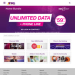 TPG 50Mbps Unlimited NBN Plan $69.99 pm or $79.99pm inc. Local and Mobile calls