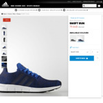 Up to 50% off Outlet Men Originals Swift Run $75 (Was $150), ShoesTee Caps Bags More Free Shipping @ adidas