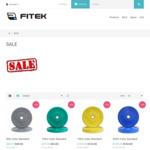 15% off, Colour Bumper Plates (Almost $3.4/Kg) @ Fitek (Plus Variable Shipping)