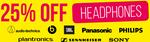 25% off All Headphones (Prices Update in Cart) @ Bing Lee