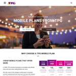 TPG 50% off Unlimited Mobile Plan for First 6 Months ($25pm/12GB, $20pm/9GB, $15pm/4GB, $10pm/2GB)