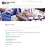 Win 1 of 5 Melbourne Getaways with Melbourne Now (VIC)