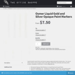 Osmer Liquid Gold/Silver Calligraphy Paint Marker Pens X 2 (1 Gold/1 Silver) - $8.50 + Free Delivery - The Office Shoppe