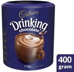 Cadbury Drinking Chocolate (Hot Chocolate) 400g for $3 @ Coles