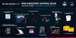 Win 1 of 44 Prizes (Alienware 15 Gaming Laptop/ Intel Core i7-8700k/ NEEDforSEAT Voucher/ etc) from ESL