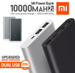 Xiaomi Mi Power Bank 2i 10,000mAh Quick Charge (Black & Silver) $18.59 + $8.99 Delivery or eBay Plus @ Mobile Mall eBay
