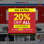 20% off All Clothing @ SportsDirect Australia