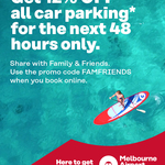 Melbourne Airport Parking 12% off Online Booking (48 Hour Friends & Family Sale)