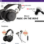 Yamaha HPH-W300 Bluetooth Headphones $149 Delivered ($100 off RRP) & Yamaha EPH-W53 Bluetooth Earphones $99 Delivered ($50 off)