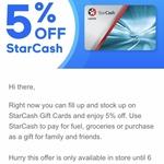 5% off Starcash Gift Cards @ Caltex