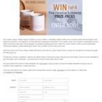 Win 1 of 4 The Candle Library Bougie Blanc Candle Sets Worth $90 from Seven Network