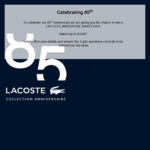 Win a $1,500 Wardrobe from Lacoste