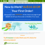 AUD $10 off on Orders over AUD $40 for New Customers @ iHerb.com