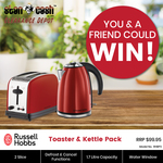 Win 1 of 2 Russell Hobbs Toaster & Ketter Packs Worth $99.95 from Stan Cash