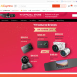 Up to 60% off Yi Cameras (e.g. 4k+ $159.99 USD/ $227.81 AUD) @ Yi Offiicial Store AliExpress