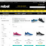 Kids Footwear from $49.99 Pickup or + Delivery (Free for Orders over $50) @ Rebel